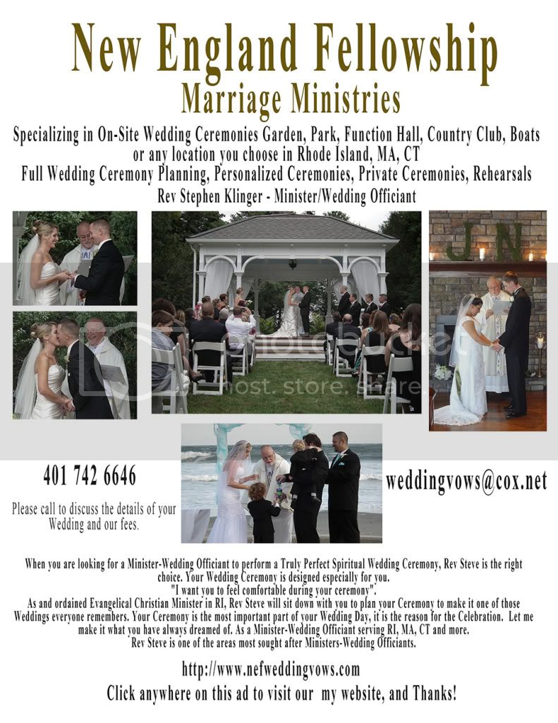 Ministers RI, Wedding Officiants RI, Rev Steve will make your Wedding Ceremony the most memorable anyone has attended.
