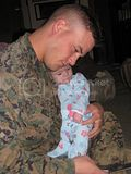 daddy and i before he deployed. 